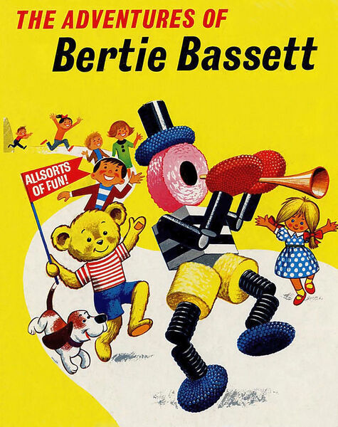 The Adventures of Bertie Bassett 1950s UK. Liquorice Allsorts ...