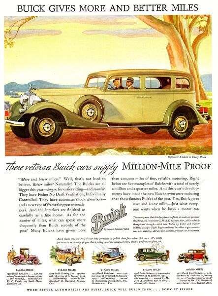 Buick Division Of General Motors 1930s USA cc cars