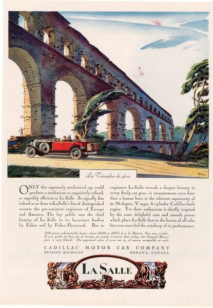 Cadillac La Salle 1928 1920s USA cc cars bridges viaducts