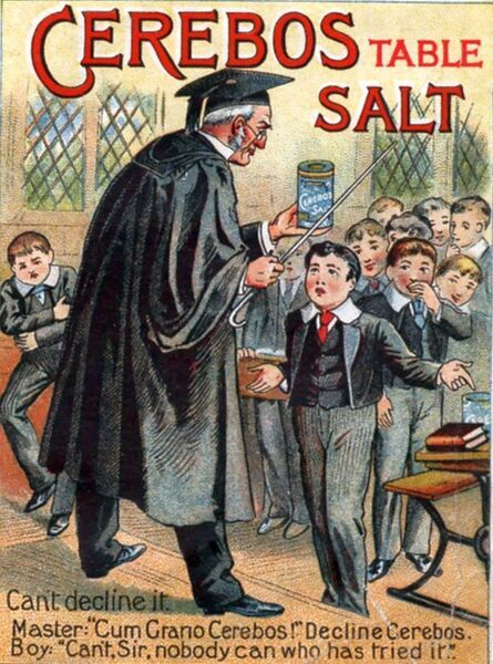 Cerebos Salt 1900s UK punishments teachers school