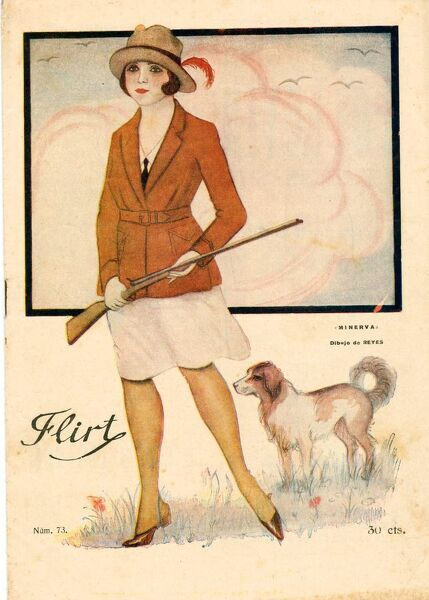 Flirt 1920s france cc magazines hunting dogs guns rifles