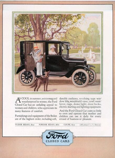 Ford 1924 1920s USA cc cars dogs