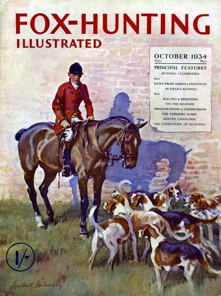 Fox-Hunting Illustrated 1934 1930s UK fox hunting cruel sports magazines Original not available