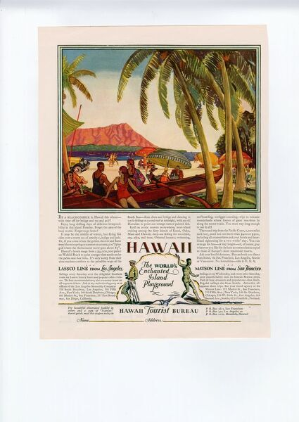 Hawaii 1928 1920s USA cc holidays tourism