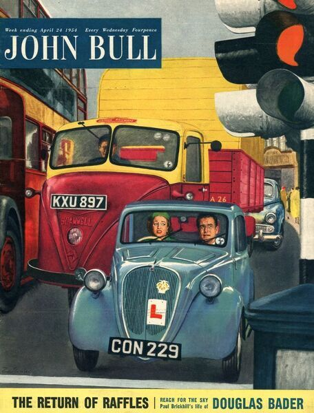 John Bull 1954 1950s UK cars learner drivers learning to drive magazines