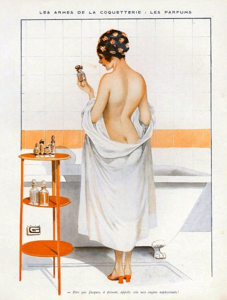 La Vie Parisienne  1916 1910s France cc bathing erotica undressing baths
