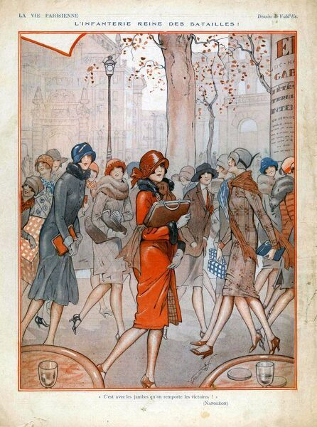 La Vie Parisienne  1925 1920s France cc shopping womens
