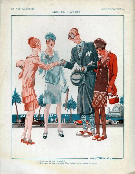 La Vie Parisienne  1927 1920s France cc odd ugly geeks couples