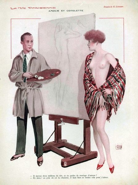 La Vie Parisienne  1929 1920s France cc portraits artists paintings nudes erotica life drawings naked nudity painters