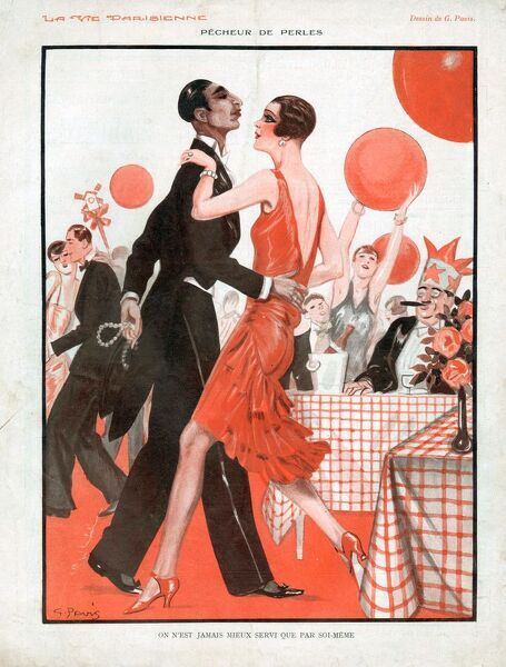 La Vie Parisienne 1929 1920s France cc stealing thieves theft balloons Art Deco party