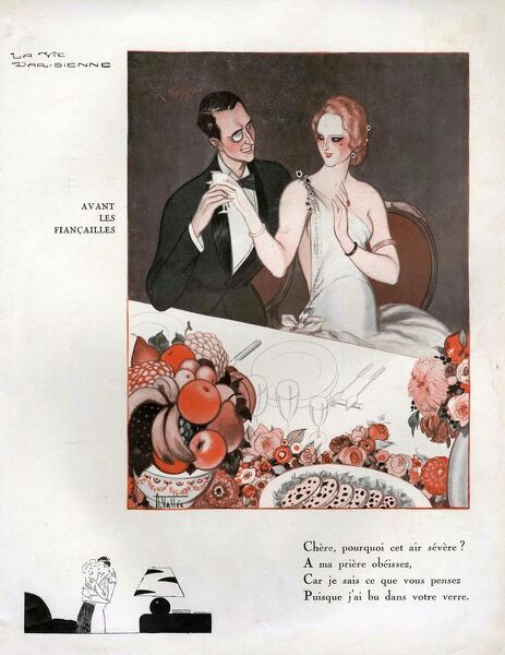 La Vie Parisienne  1931 1930s France cc monocles engagement dinner eating party restaurants