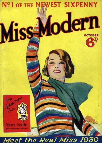 Miss Modern 1930 1930s UK first issue teenagers magazines Original not available