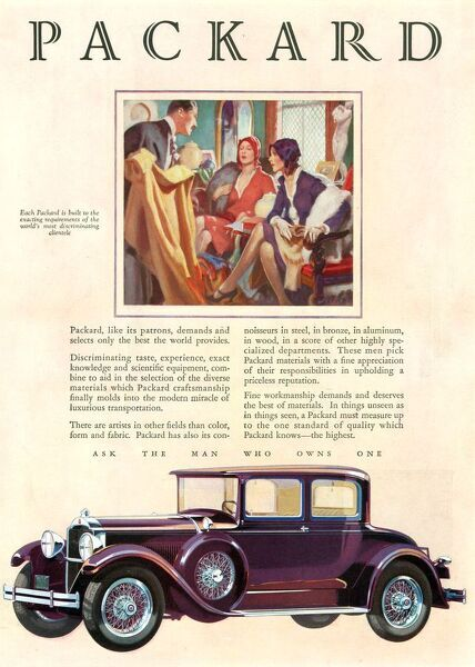 Packard 1929 1920s USA cc cars