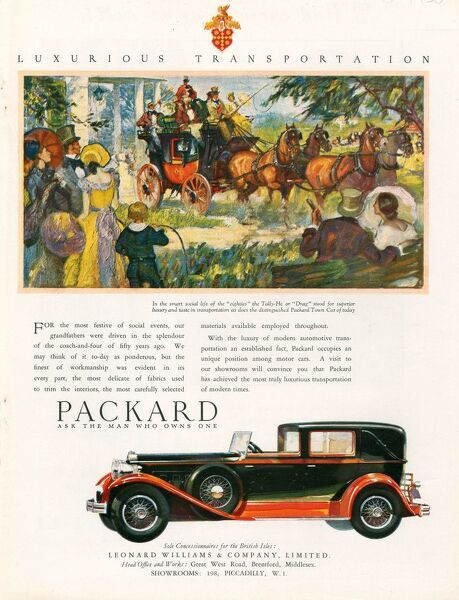 Packard 1930 1930s USA cc cars horses coaches carriages