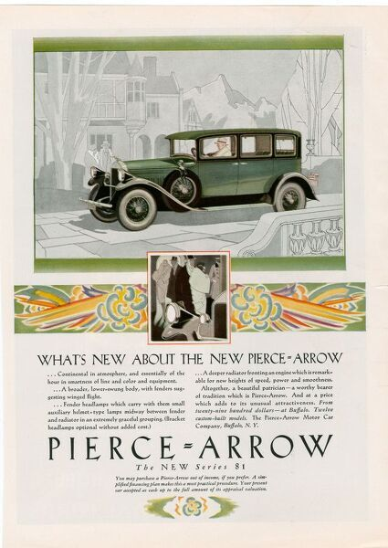 Pierce Arrow 1928 1920s USA cc cars
