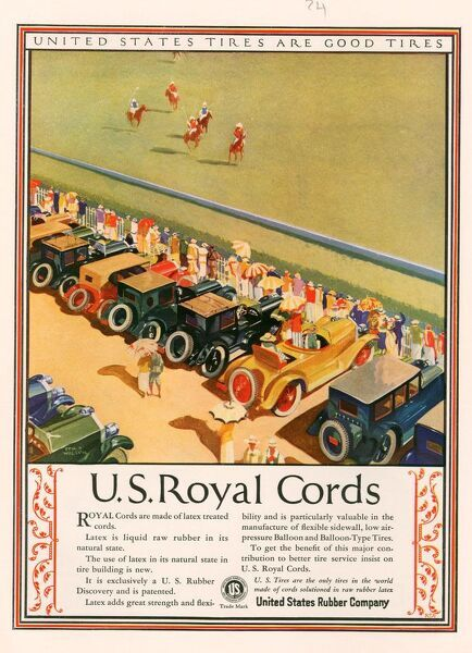 US Royal Cords 1924 1920s USA cc cars Tyres horses polo spectators