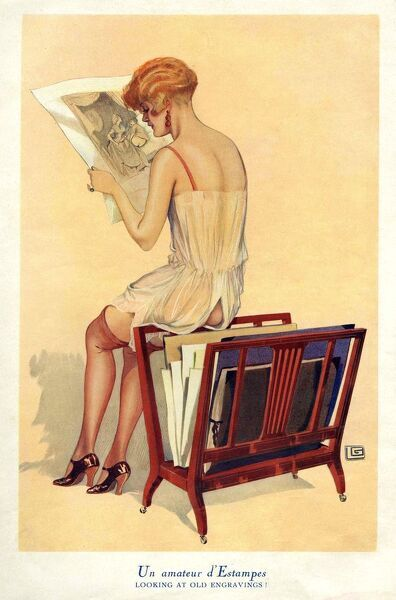Woman reading 1920s UK portraits reading glamour CC