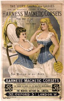 1890s UK corsets girdles magnetic harness underwear womens clothing clothes gadgets