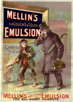 1890s UK mellin's emulsion coughs colds flu medicine medical