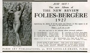 1920s France Folies Bergere Magazine Advert