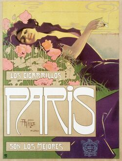 1920s UK art nouveau cigarettes Los cigarillos women smoking Paris France French