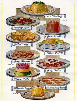 1920s UK Food Magazine Plate