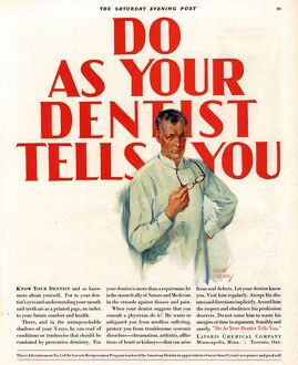 1920s USA dentists lavoris do as your dentist tells you