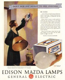 1920s USA edison mazda lamps general electric lamps light bulbs appliances