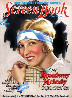 1920s USA Screen Book Magazine Cover