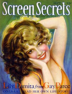 1920s USA Screen Secrets Magazine Cover