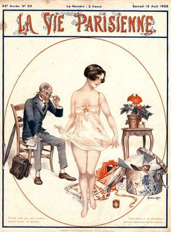 1925 1920s France erotica glamour la vie parisienne dirty old men lecherous shopping
