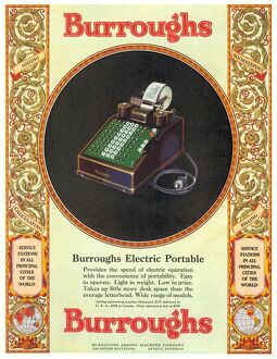 1929 1920s USA equipment burroughs adding machines accountants