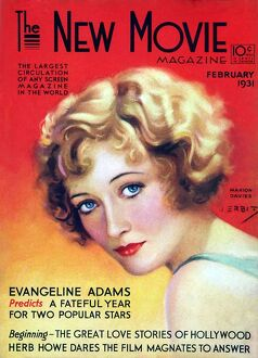 1930s USA The New Movie Magazine Magazine Cover