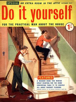 Do It Yourself 1950s UK diy stairs decorating magazines do it yourself interiors