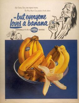 1950s UK fyffes bananas fruit