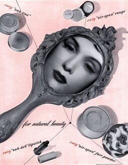 1950s USA art surreal surrealism mirrors powder lipsticks lipstick to for