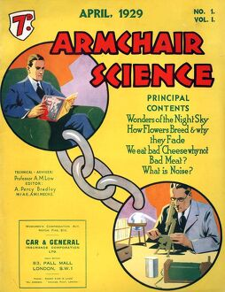 Armchairs Science 1929 1920s UK first issue magazines