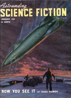 Astounding 1940s USA space ships aliens pulp fiction ufos magazines nautical