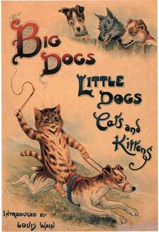 Big Dogs Little Dogs Cats and Kittens 1910s UK cats dogs illustrations