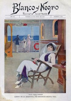 Blanco y Negro 1913 1910s Spain relaxing boats cruises cc holidays