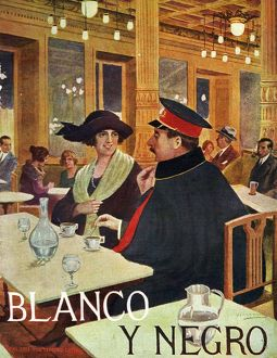 Blanco y Negro 1921 1920s Spain cc drinking bars cafes