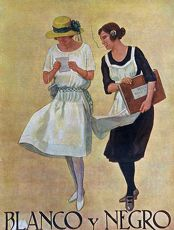 Blanco y Negro 1922 1920s Spain cc magazines maids servants reading letters love