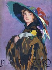 Blanco y Negro 1932 1930s Spain cc magazines womens hats feathers