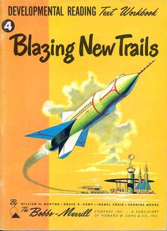 Blazing New Trails 1950s USA rklf Bobbs-Merrill Company spaceships space ships rockets