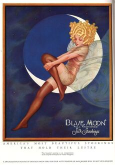 Blue Moon Silk stockings 1920s USA womens glamour pin-ups nylons hosiery