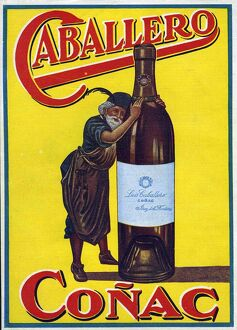 Caballero 1935 1930s Spain cc brandy conac cognac alcohol
