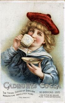 CadburyA•s 1890s UK cocoa drinking chocolate