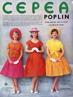 Cepea Poplin 1959 1950s UK womens