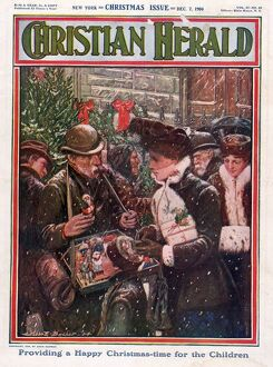 Christian Herald 1904 1900s USA shopping street-sellers magazines
