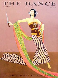 The Dance 1929 1920s USA Ruth St Denis magazines knives maws